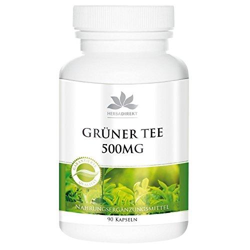 Extracto de té verde 500mg – Camellia sinensis – mín. 50% de polifenoles – contiene EGCG – Vegano – 90 Cápsulas