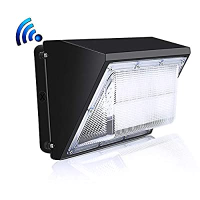 100W LED Wall Pack Light with Dusk-to-Dawn Photocell, 5000K Daylight, 13000LM, 600 Watt HPS/HID Replacement, Commercial and Industrial Outdoor LED Security Lighting for Parking Lots,Apartments
