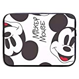 CHLING Mickey Mouse Smile Neoprene Laptop Sleeve Case Bag Cover Compatible 13-15 Inch MacBook Pro/MacBook Air/Notebook
