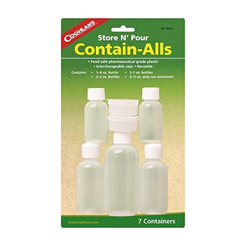 Coghlans 8525 Store & Pour Contain-Alls Plastic Containers