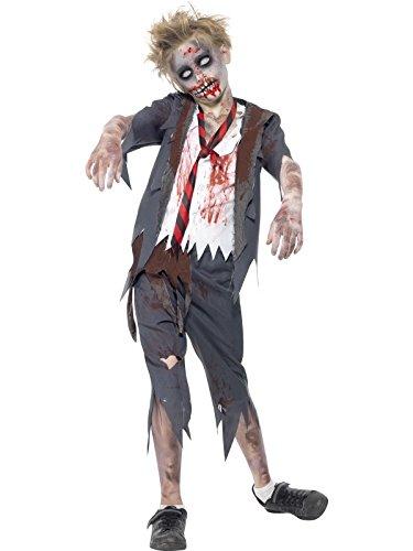 Halloween! Smiffys Zombiekostüm Schüler, mit Hose, Jacke, Hemdteil und Krawatte