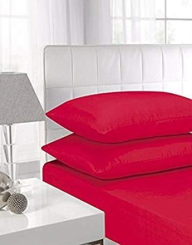 Lenzuola altamente elasticizzate in 100% cotone egiziano, da 40cm Doppio Red
