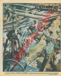La lotta contro il nemico sotterraneo : una schiera di operai, a New York, tenta di salvare un intero rione minacciato dall'acqua, irrompente nel sottosuolo per la rottura di un tubo dell'acquedott