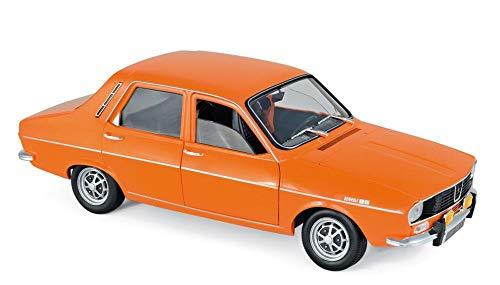 Norev NV185211 Renault 12 TS-Orange 1:18 1973 Color Blanco Pantalla de proyección