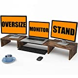 WESTREE Monitor Stand Riser,3 Shelf Computer Monitor Stand with Adjustable Length and Angle PC Stand Desktop Stand Desktop Organizer Desk Riser