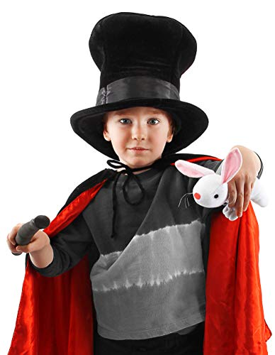 elope Magician Hat with Rabbit for Kids Black