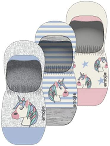 Emoji Socks Womens Shoe Size 5-10 Pack of 3 Pairs Ladies Crew & No Show Poop Smiley Faces Unicorn