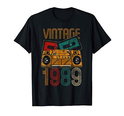 32 Cumpleaños Hombre Mujer 32 Años Vintage 1989 Camiseta
