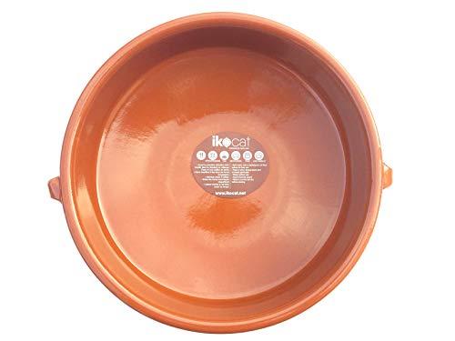 Ikocat® - Casseruola in terracotta artigianale e naturale, 6 unità (30 cm)