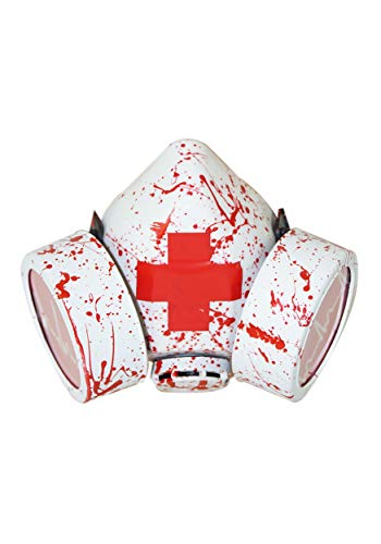 Bloody Red Cross Gas Mask Standard
