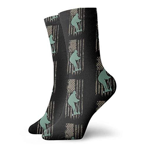 Calcetines de patineta patrióticos para mujer, calcetines divertidos de 30 cm.