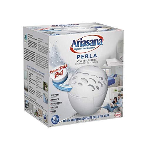 Arisana Kit Micro Perla Assorbiumidità, Deumidificatore ambienti fino a 10mq, Assorbi umidità che previene muffe e cattivi odori, bianco, 1 dispositivo e 1 Power Tab 300g