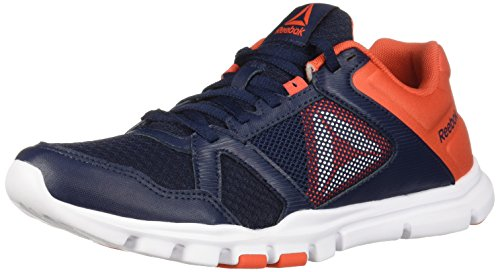 Reebok Herren Yourflex Train 10, Collegiate Navy/Carotin, 40 EU