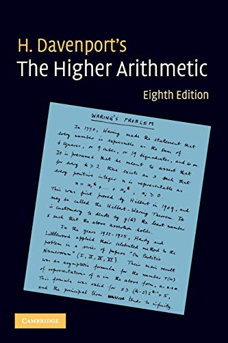 Compare Textbook Prices for The Higher Arithmetic: An Introduction to the Theory of Numbers 8 Edition ISBN 9780521722360 by Davenport, H.
