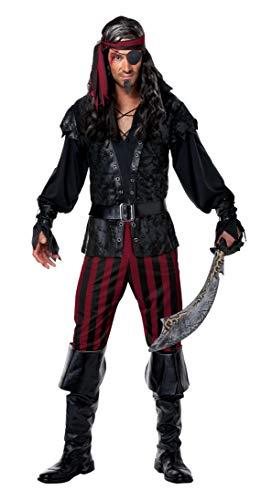 JADEO Costume da pirata da uomo, taglia media