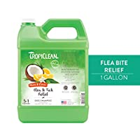 TropiClean Neem & Citrus Flea & Tick Dog Shampoo, 1 Gallon by Tropiclean