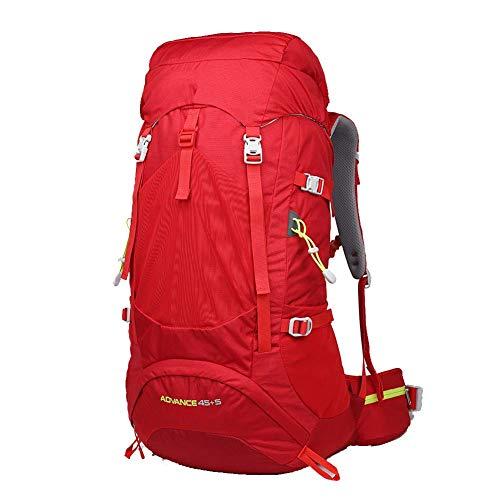YHDQ Camping al Aire Libre/Camping/Bolsa de Viaje/Mochila táctica 60L Bolsa al Aire Libre-Red