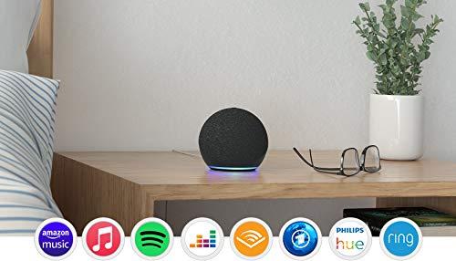 Echo Dot (4. Generation), Anthrazit + Amazon Smart Plug (WLAN-Steckdose), Funktionert mit Alexa