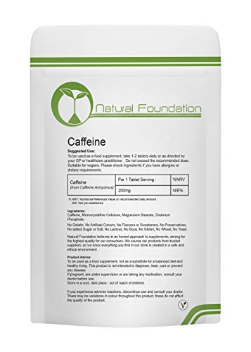 Caffeine 200mg Tablets Supplements for Weight Loss and Pre-Workout Energy...