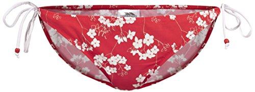 Trespass Tilly - Parte de Debajo de Bikini para Mujer, Color Rojo, Talla XXS