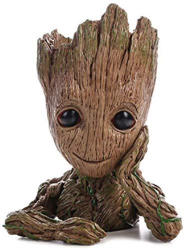 L-YY Baby Groot Flower Pot Marvel figure from Guardians of the Galaxy for plants pens Room Decoration For Family Children Gifts (single hand flower pot) ( Color : Single Hand Flower Pot )
