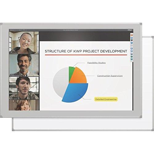 Best-Rite/MooreCo - 2G5KG-25 - MooreCo Interactive Projector Board with Brio Trim - 86-47.06 x 71.06 Active Area - Multi-Touch Screen - Gloss White - TAA Compliant