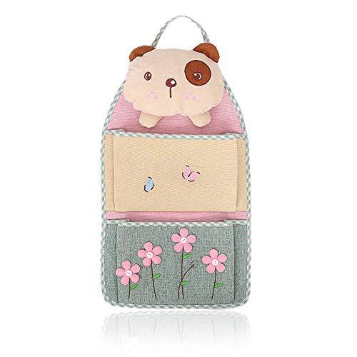 2 zakken schattige cartoon wandbehang linnen katoen opbergtas wandbehang pop kleding linnen kledingkast deur hangen koffer