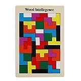 Tetris Del Niño Del Juguete De Niños Montessori Rompecabezas De Madera