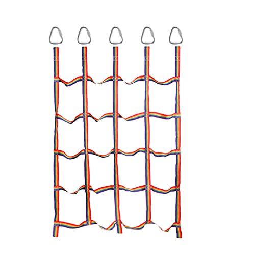 ABOOFAN - Scala di corda per arrampicata per bambini, in rete, per fare esercizio fisico, gioco da giardino