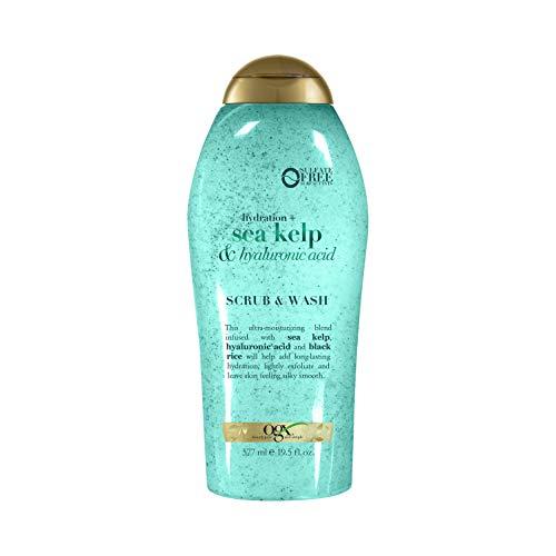 OGX Hydration + sea kelp & hyaluronic acid exfoliating body scrub, 19.5 Ounce
