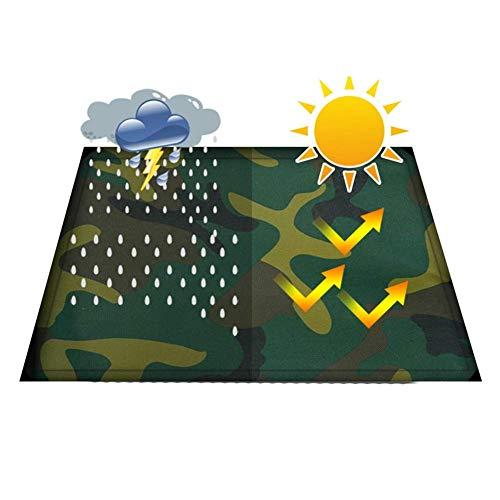 Jonist Plane wasserdichte Hochleistungs-Tarnplane für Gartenarbeit Angeln Campingzelt, 7 Größe (Farbe: Grün, Größe: 3x4m)