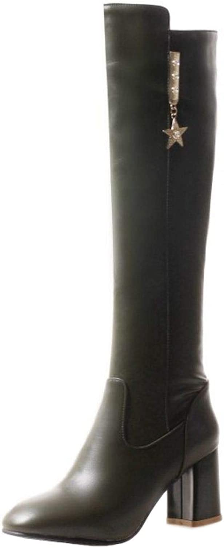 NIGHT CHERRY Women Fashion High Heel Knee Boots