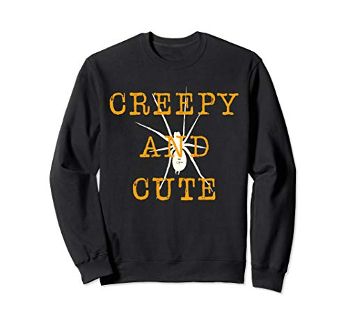 CREEPY AND CUTE - Best Halloween Funny Graphic Costume Sweatshirt