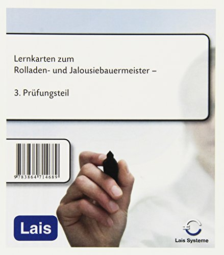 Lernkarten zum Rolladen- und Jalousiebauermeister: 3. Prüfungsteil