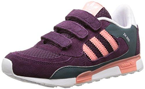 adidas ZX 850 K, Chaussures de Gymnastique Mixte Enfant - Multicolore - Merlot F15-St/Peach Pink F15-St/Ftwr White, 28 EU
