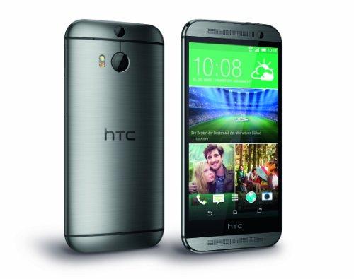 HTC One 2014 (M8) Smartphone débloqué 4G (Ecran: 5 pouces - 16 Go - Android 4.4 KitKat) Gris Acier (Import Europe)