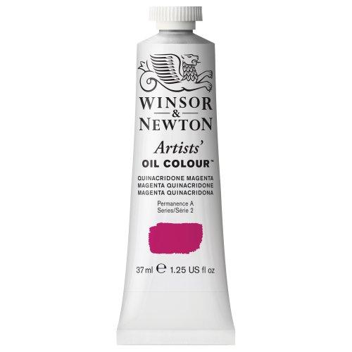 Winsor & Newton Artists' Oil Color Paint, 37-ml Tube, Quinacridone Magenta