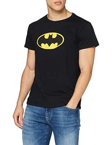 MERCHCODE Merch Código Hombre Batman Logo tee–Camiseta, Hombre, Batman Logo tee, Negro, Medium