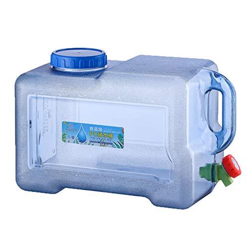 18L Contenedor De Agua Portátil De Mano Para Automóvil Cubo De Almacenamiento, Con Grifo Cubo De Almacenamiento De Plástico De Barril Cuadrado, Ideal Para Deportes, Campamento, Senderismo, Pícnic