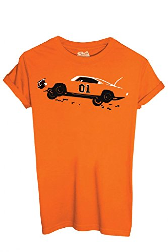 MUSH T-Shirt Hazzard Generale Lee - Film by Dress Your Style - Uomo-M-Arancione