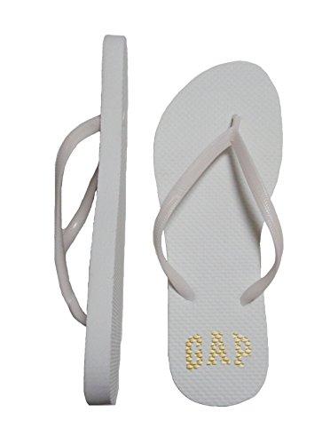 GAP Women Flip Flops Beach Slippers (White, numeric_6)