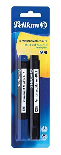 Pelikan 950170 Permanent Marker 407 F, 2 Stück schwarz/blau