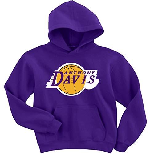 Purple Los Angeles AD Davis Logo Hooded Sweatshirt Youth