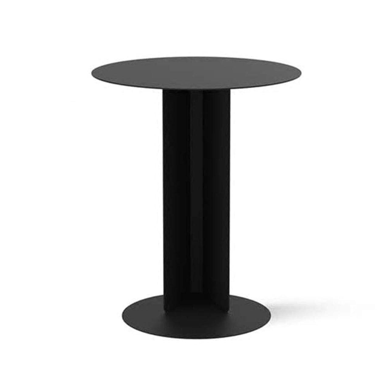 生じる忠実にポゴスティックジャンプブラックコーヒーテーブルモダンな幾何学模様錬鉄製サイド小さなラウンドテーブル用リビングルーム/ベッドルーム/書斎ソファサイドテーブル - 15.7x19.7in
