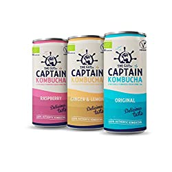 GUTsy Captain Kombucha is a delicious drink – a living food fermented with live bacteria and rich in antioxidants and enzymes that are good for your gut. 100% Authentic kombucha - vegan, low calories, gluten free, living food, never from concentrate,...