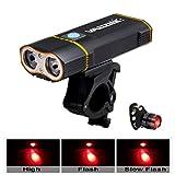 DDSTAR Fahrradbeleuchtung 6000lm Fahrradbeleuchtung Led Fahrradbeleuchtung Mit USB Akku Radfahren