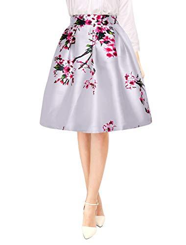 Dames zomer bloemen verborgen crêpe skirt kort chic mode slim modieuze fit bloemenprint rijfrock