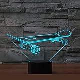 Skateboard führte bunte Tischlampen der Lampen-3D...
