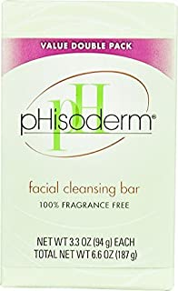 pHisoderm Facial Cleansing Bar Value Double Pack Fragrance Free - 2 Bars