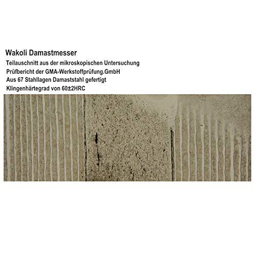 Wakoli 3er Damastmesser Set in Holzbox – VG-10, Edib - 6